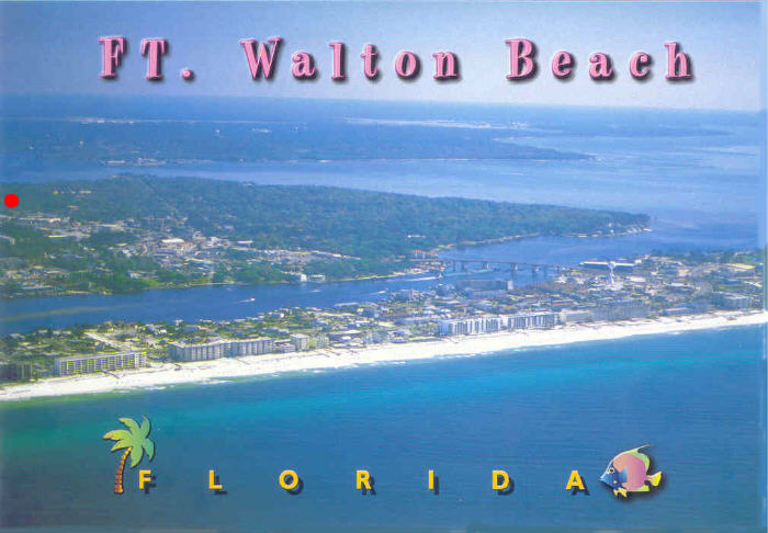 Ft Walton Beach Airport Vps Is Visible At Top Left Just Below The On Photo Hotels And Condos Are Also In More