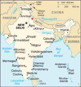 Map Himalayas
